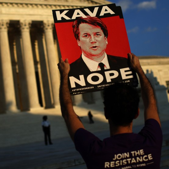 Activists Demonstrate Against Brett Kavanaugh Nomination At The Supreme Court